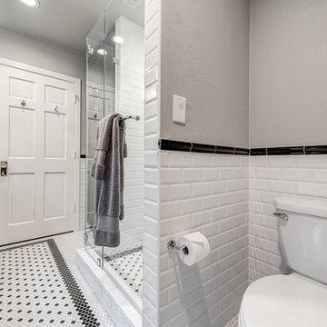 Dallas Guest Bathroom in Black & White