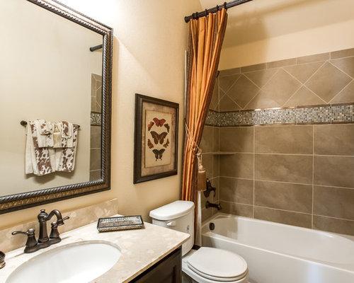salle d 39 eau avec un plan de toilette en stratifi photos et id es d co de salles d 39 eau. Black Bedroom Furniture Sets. Home Design Ideas