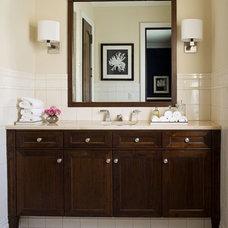 Transitional Bathroom by SoJo design