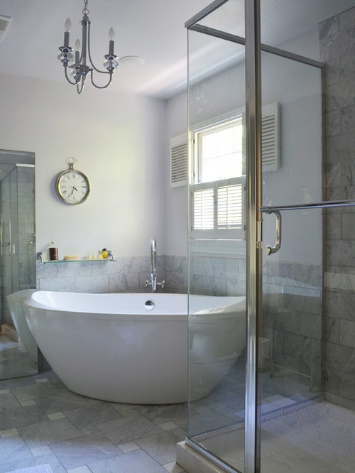 Outstanding Corner Free Standing Tub Ideas Pictures Remodel And Decor Largest Home Design Picture Inspirations Pitcheantrous