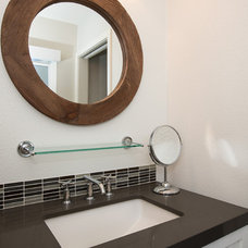 Transitional Bathroom by Sea Pointe Construction