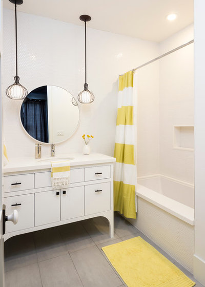 Transitional Bathroom by Von Fitz Design