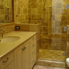 mediterranean bathroom by Home Systems , Wendi Zampino