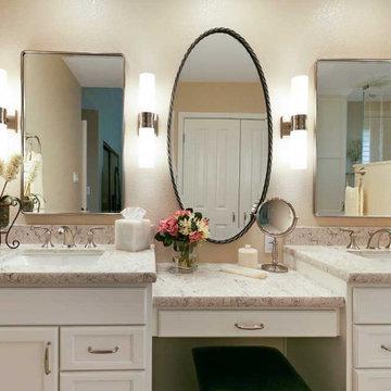 Danville Transitional Master Bath & Laundry Closet Remodel