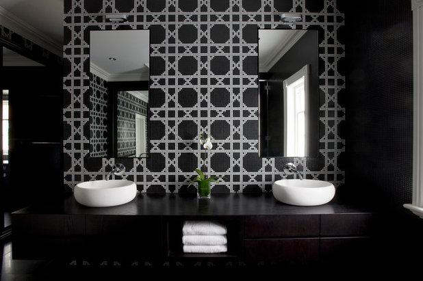 20 bellissimi bagni con piastrelle bianche e nere