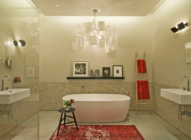 Industrial Bathroom by David Howell Design
