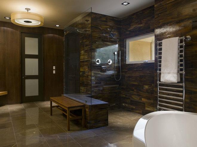 Contemporary Bathroom by David Wilkes Builders
