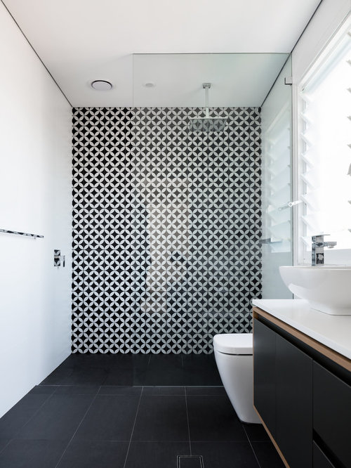 This Is An Example Of A Contemporary Bathroom In Sydney With A Vessel Sink,  Flat