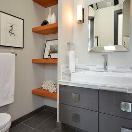 modern bathroom by Dawna Jones Design