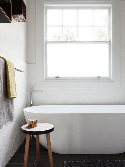 Scandinavian Bathroom by One Girl Interiors
