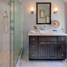 Traditional Bathroom by Allie Mann - Case Design/Remodeling Inc.
