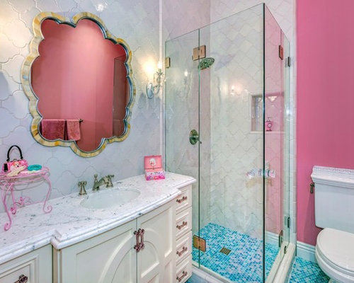 Color pink bathroom design ideas renovations photos for Two piece bathroom ideas