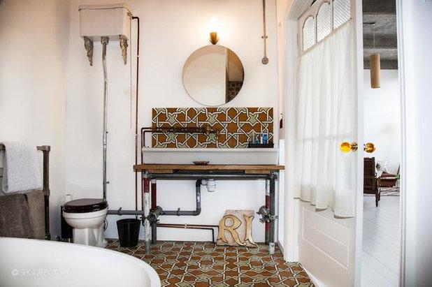 Kalte Dusche! 11 Ideen für ein Badezimmer im Industrial-Look