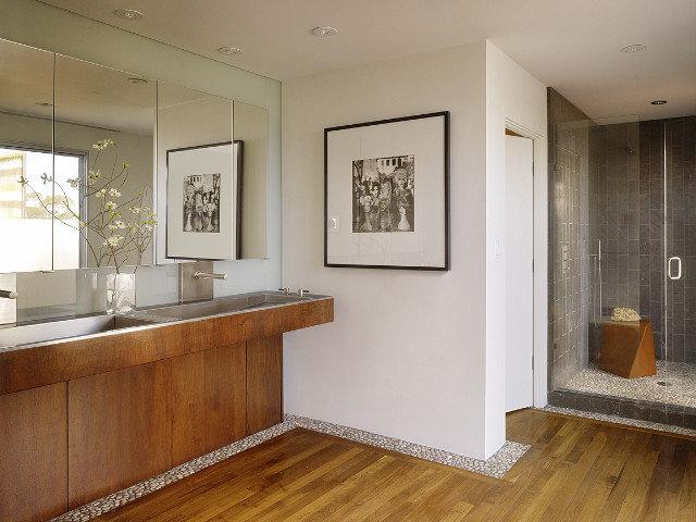Contemporary Bathroom by Geoffrey De Sousa Interior Design