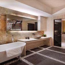 Asian Bathroom by PlushHome Singapore