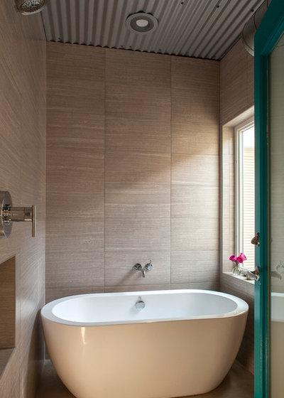 Industrial Bathroom by Greene Design LLC