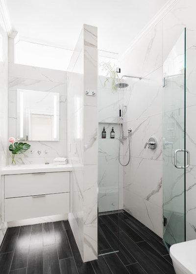Contemporary Bathroom by Bunker Workshop