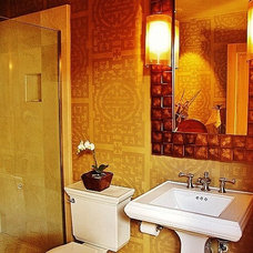 asian bathroom by Debra Campbell Design