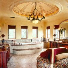 Mediterranean Bathroom by Debra Kay George Interiors