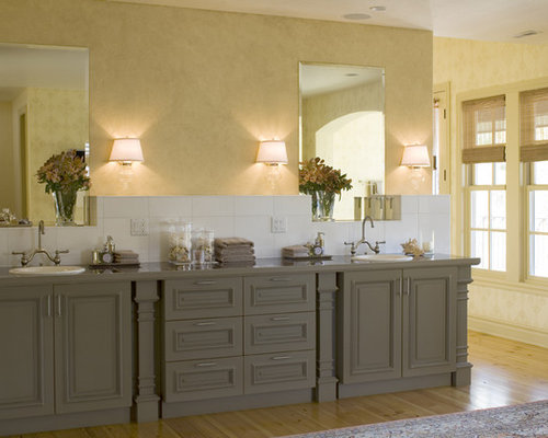 Painted Bathroom Cabinets Home Design Ideas Pictures