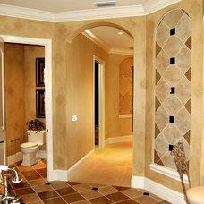 Mediterranean Bathroom by Speir Faux Finishes, Inc.