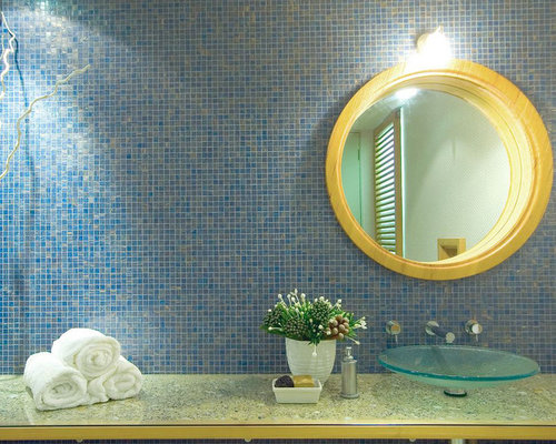 Blue and yellow bathroom design ideas remodels photos for Blue and yellow bathroom decor