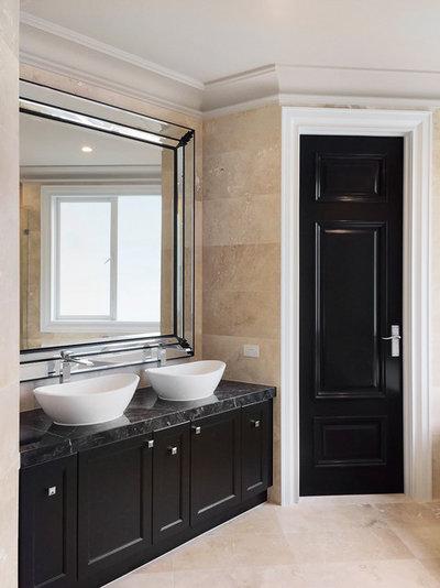 Transitional Bathroom by Lewisham Interiors