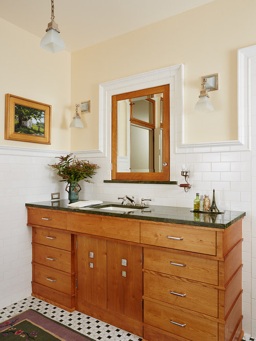 Bathroom Sink Yellow bathroom with yellow walls ideas, designs & remodel photos | houzz