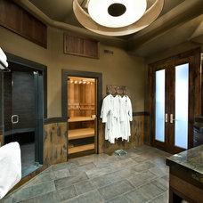 Contemporary Home Gym by Sorento Design, LLC.