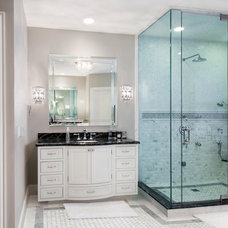 Transitional Bathroom by Red Rock Custom Homes, Inc.