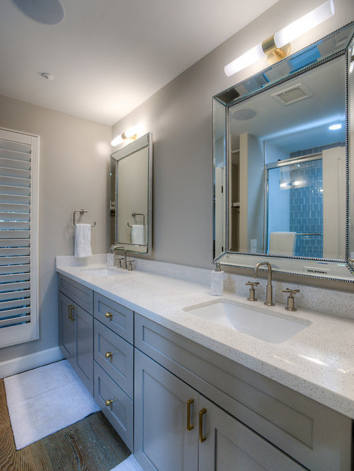 10 colored door Bathroom Design Photos with Beaded Inset Cabinets, a ...