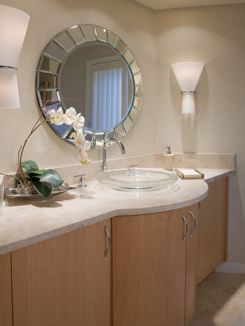 Low Profile Vessel Sink Houzz - Low profile bathroom sink for bathroom decor ideas