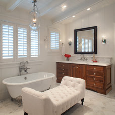Beach Style Bathroom by Laura Kehoe Design