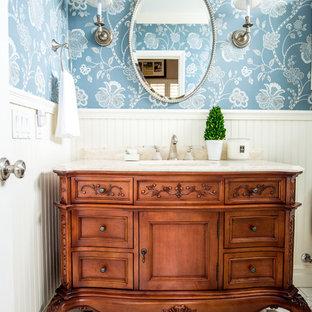 Elegant bathroom photo in San Diego