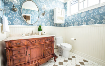 New This Week: 3 Foolproof Wallpaper Ideas for a Bold Bathroom
