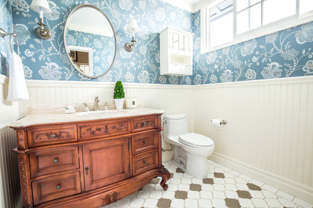 New Traditional Bathroom by Megan Pucak Interior Design