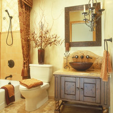 Eclectic Bathroom by Leslie Cohen Design