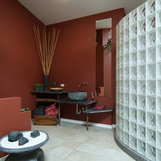 Asian Bathroom by Rivertown Homes by Design