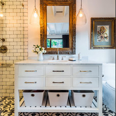 Eclectic Bathroom by Lori Smyth Design