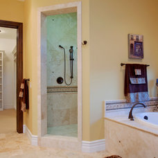 Mediterranean Bathroom by McCullough Design Development Inc