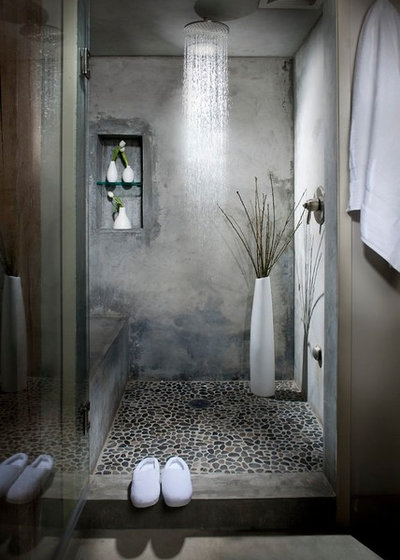 Industrial Bathroom by Melissa Winn Interiors