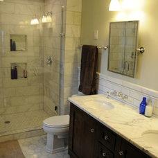 Craftsman Bathroom by Michael Boaz Construction