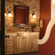 Mediterranean Bathroom by Falcon Custom Homes