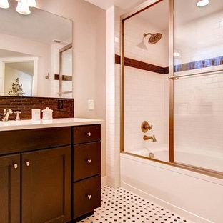 75 Beautiful Pink Bathroom With Laminate Countertops ...