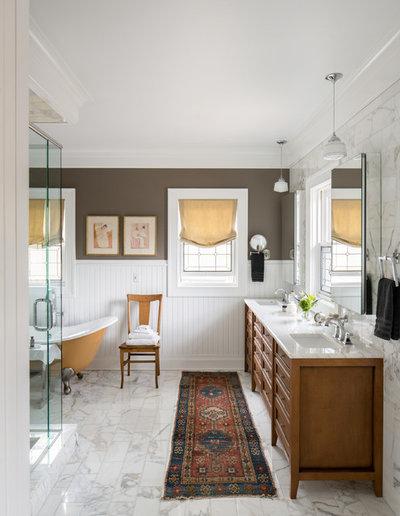 Traditional Bathroom by AJ Kirkegaard Contractors