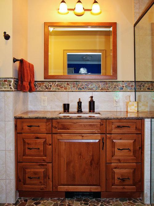 Knotty Alder Bathroom Cabinets   Houzz