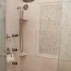 Open Shower Design Traditional Bathroom Newark By