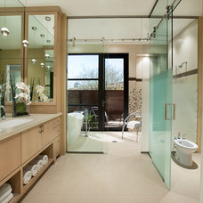 Contemporary Bathroom by Lawrence Lake Interiors