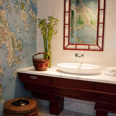 Asian Bathroom by Greenauer Design Group