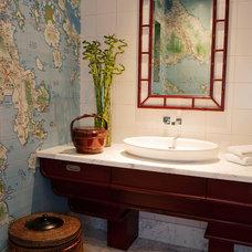 Asian Bathroom by Greenauer Design Group